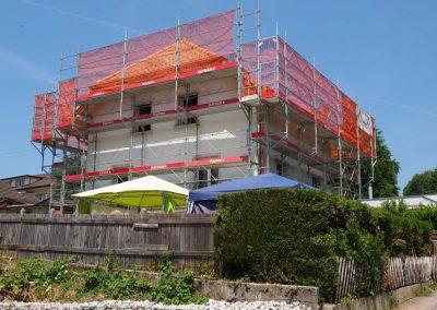 Montage échafaudages villa Châtel-St-Denis