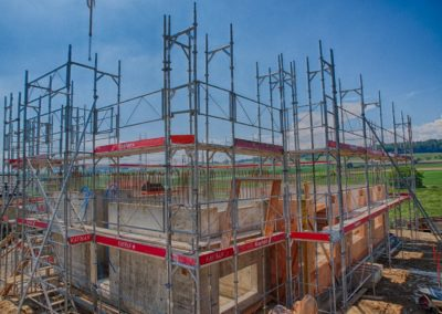 Ossateure échafaudages maison construction